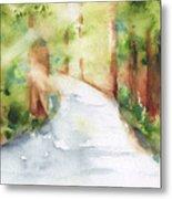 Path To Light Watercolor Metal Print