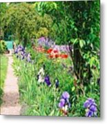 Path To Monet's House Metal Print