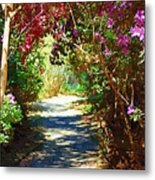 Path To The Gardens Metal Print
