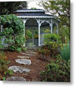 Path To The Gazebo Metal Print