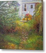 Pathway From The Treehouse Metal Print