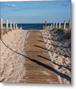 Pathway To Beach Seaside New Jersey Metal Print
