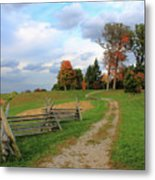 Pathway To Fall Metal Print