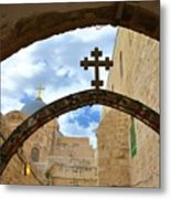 Pathway To The Cross Metal Print