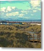 Pathway To The Sea Metal Print