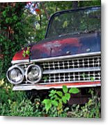 Patina On Route 66 - Square Metal Print