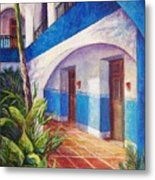 Patio In Merida Metal Print