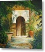 Patio Mallorquin Metal Print