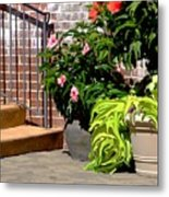 Patio Scenic Metal Print