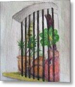 Patio Window - Gifted Metal Print