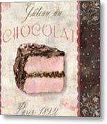 Patisserie Gateau Au Chocolat Metal Print