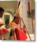 Patriarch Fouad Twal At Christmas Mass Metal Print