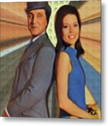 Patrick Macnee And Diana Rigg, The Avengers Metal Print