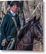 Patriot On Horse At Tower Park Battle Metal Print
