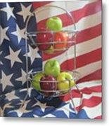 Patriotic Apples Metal Print