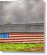 Patriotic Barn Metal Print