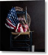Patriotic Decor Metal Print