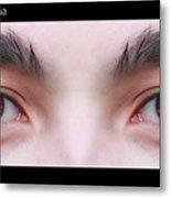 Patriotic Eyes - Poster Metal Print