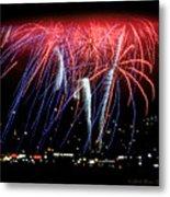 Patriotic Fireworks S F Bay Metal Print