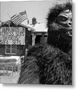 Patriotic Gorilla Pitchman July 4th Mattress Sale Tucson Arizona 1991  Metal Print
