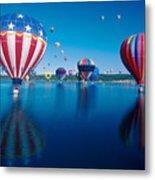 Patriotic Hot Air Balloon Metal Print