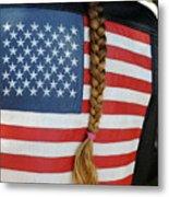 Patriotic Pony Tail Metal Print