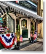 Patriotic Street Metal Print by Debbi Granruth