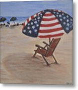 Patriotic Umbrella Metal Print