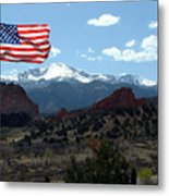 Patriotism At Pikes Peak Metal Print