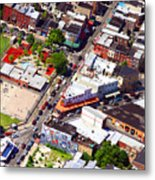 Pats King Of Steaks And Genos Steaks South Philadelphia 4542 Metal Print by Duncan Pearson