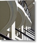 Patterned Balconies Metal Print