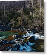 Patuxent River Trout Fisher Metal Print