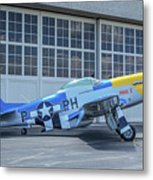 Paul 1 P-51d Mustang Metal Print