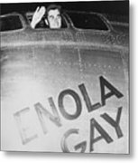 Paul Tibbets In The Enola Gay Metal Print