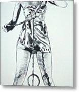 Paula Captive Wild Woman Metal Print