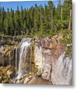 Paulina Creek Falls From The Top Metal Print
