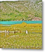 Paulina Lake Formed After Newberry Crater Erupted 1200 Years Ago In Oregon Metal Print