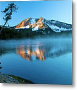 Paulina Peak In Paulina Lake Metal Print
