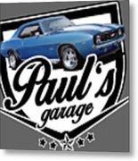 Pauls Garage Camaro Metal Print