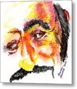 Pavarotti Sketch No. 1 Metal Print