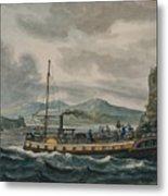 Pavel Petrovich Svinin, 1787 -1839, Steamboat Travel On The Hudson River Metal Print