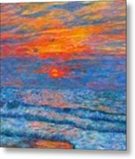 Pawleys Island Sunrise In The Sand Metal Print