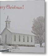 Pawpaw Church Christmas Metal Print