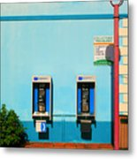 Pay Phones Metal Print