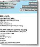 Payan Pool Service Infographics Metal Print