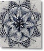 Paynes Gray Mandala2 Metal Print