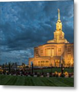 Payson Temple Panorama Metal Print