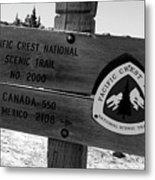 Pct Scenic Trail Metal Print
