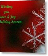 Peace And Joy Christmas One Metal Print