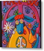 Peace Dog Metal Print